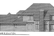 Modern Style House Plan - 3 Beds 3.5 Baths 3023 Sq/Ft Plan #70-475 Exterior - Rear Elevation