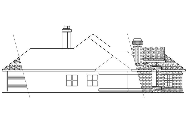 Traditional Exterior - Other Elevation Plan #124-258 - Houseplans.com