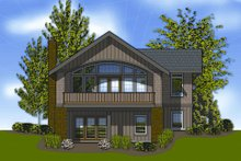 Dream House Plan - Cottage Exterior - Rear Elevation Plan #48-238