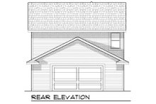 Home Plan - Bungalow Exterior - Rear Elevation Plan #70-966