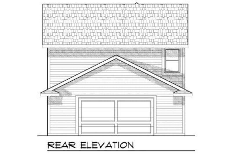 Bungalow Exterior - Rear Elevation Plan #70-966 - Houseplans.com