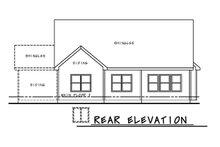 House Plan Design - Farmhouse Exterior - Rear Elevation Plan #20-2446