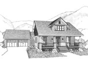 Craftsman Style House Plan - 3 Beds 2.5 Baths 1923 Sq/Ft Plan #79-259 Exterior - Front Elevation