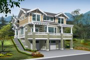 Craftsman Style House Plan - 3 Beds 2.5 Baths 3175 Sq/Ft Plan #132-133 Exterior - Front Elevation