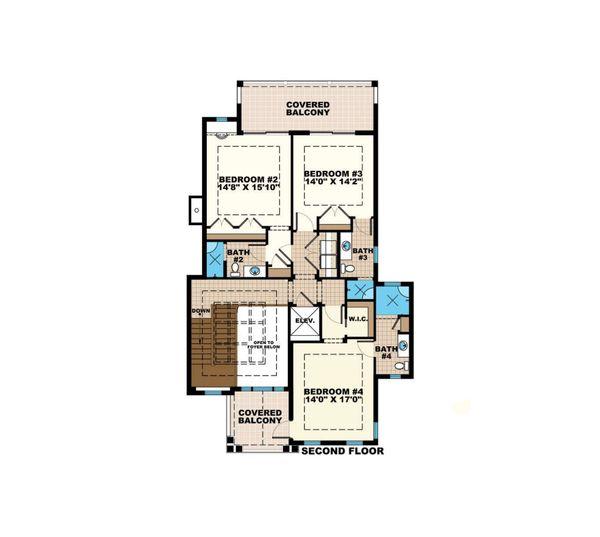 Country Floor Plan - Upper Floor Plan Plan #27-547