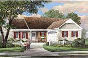 Ranch Style House Plan - 3 Beds 2 Baths 1445 Sq/Ft Plan #137-269 Exterior - Front Elevation