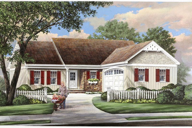 Ranch Exterior - Front Elevation Plan #137-269