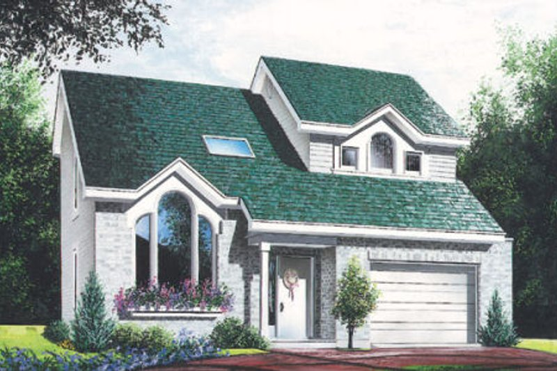 Traditional Exterior - Front Elevation Plan #23-446 - Houseplans.com