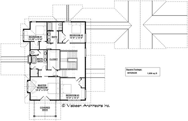Craftsman Floor Plan - Upper Floor Plan Plan #928-317