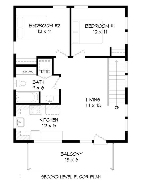 Contemporary Floor Plan - Upper Floor Plan Plan #932-295