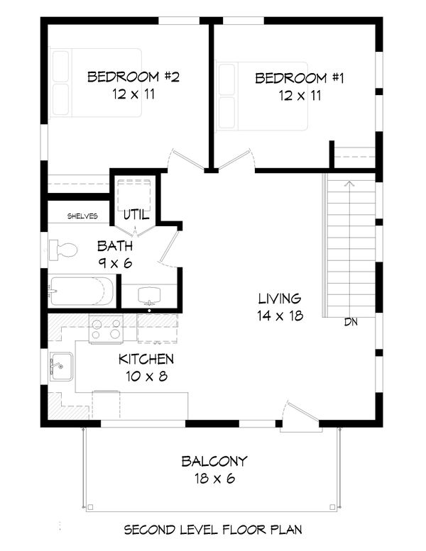House Plan Design - Contemporary Floor Plan - Upper Floor Plan #932-295
