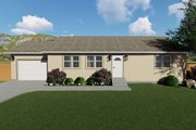 Ranch Style House Plan - 2 Beds 1 Baths 1190 Sq/Ft Plan #1060-3 Exterior - Front Elevation
