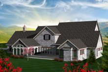 Dream House Plan - European Exterior - Rear Elevation Plan #70-1151