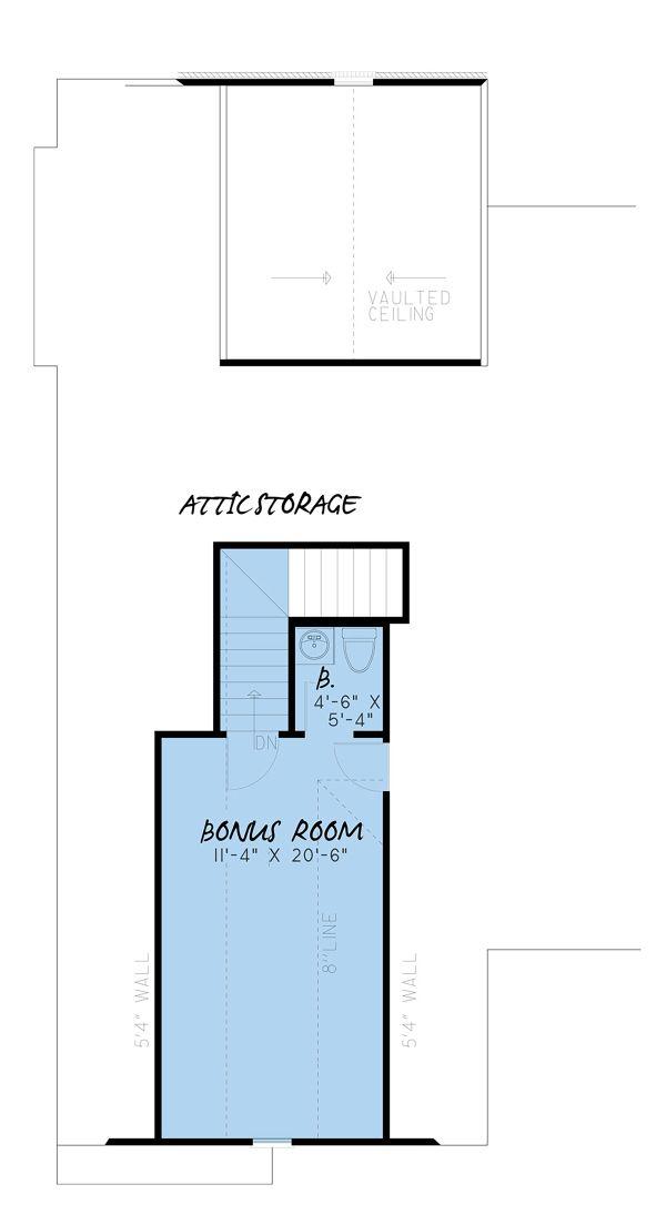 Farmhouse Floor Plan - Upper Floor Plan #923-154