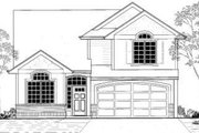 Traditional Style House Plan - 4 Beds 2.5 Baths 1765 Sq/Ft Plan #53-414 Exterior - Front Elevation