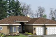 Traditional Style House Plan - 3 Beds 2.5 Baths 2907 Sq/Ft Plan #1-971 Exterior - Front Elevation