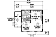 Cabin Style House Plan - 2 Beds 1 Baths 1352 Sq/Ft Plan #25-4411 Floor Plan - Main Floor Plan