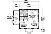 Cabin Style House Plan - 2 Beds 1 Baths 1352 Sq/Ft Plan #25-4411 Floor Plan - Main Floor