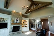 Craftsman Style House Plan - 5 Beds 4.5 Baths 4206 Sq/Ft Plan #70-1471 Interior - Family Room