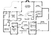 Ranch Style House Plan - 4 Beds 3 Baths 3000 Sq/Ft Plan #124-856 Floor Plan - Main Floor Plan