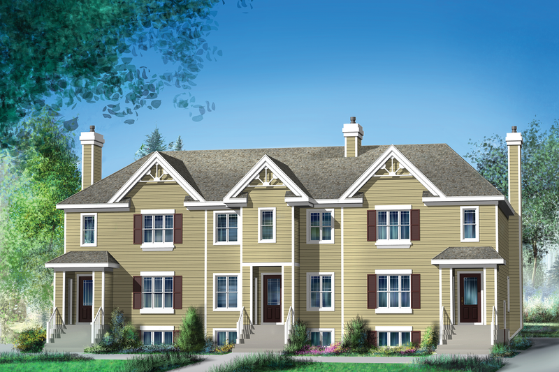 Traditional Style House Plan - 14 Beds 6 Baths 6338 Sq/Ft Plan #25-4613 Exterior - Front Elevation