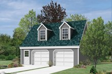 Colonial Exterior - Front Elevation Plan #57-634