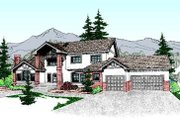 Tudor Style House Plan - 6 Beds 3.5 Baths 3520 Sq/Ft Plan #60-208 Exterior - Front Elevation