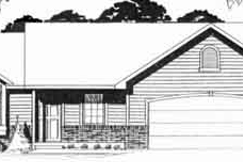 Dream House Plan - Ranch Exterior - Front Elevation Plan #58-160