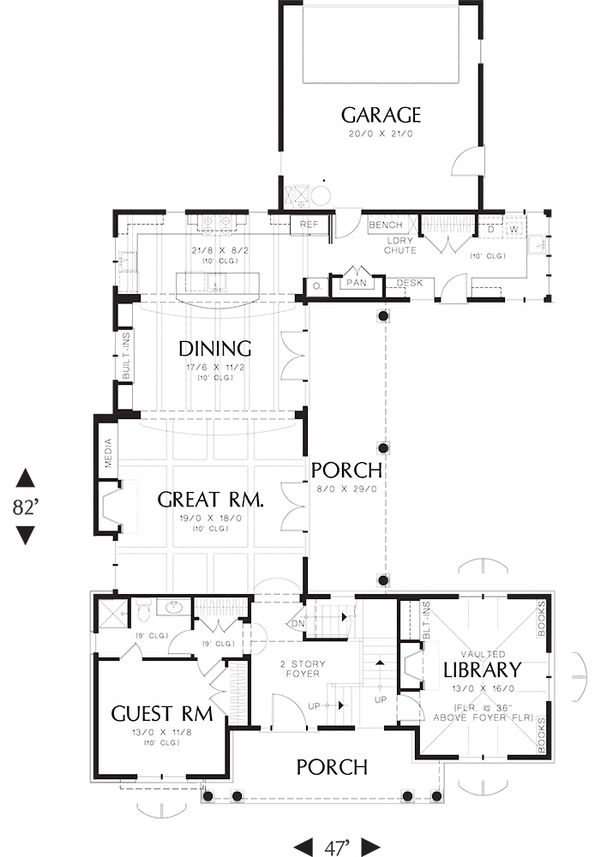 Traditional Floor Plan - Main Floor Plan Plan #48-244