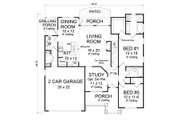 Traditional Style House Plan - 5 Beds 4 Baths 2317 Sq/Ft Plan #513-2061 Floor Plan - Main Floor Plan