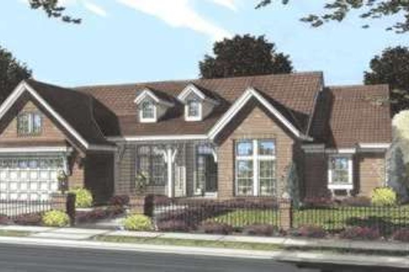 Traditional Style House Plan - 3 Beds 2 Baths 2140 Sq/Ft Plan #20-1835 Exterior - Front Elevation