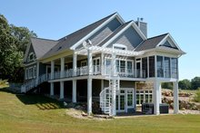 Architectural House Design - Ranch Exterior - Rear Elevation Plan #70-1499