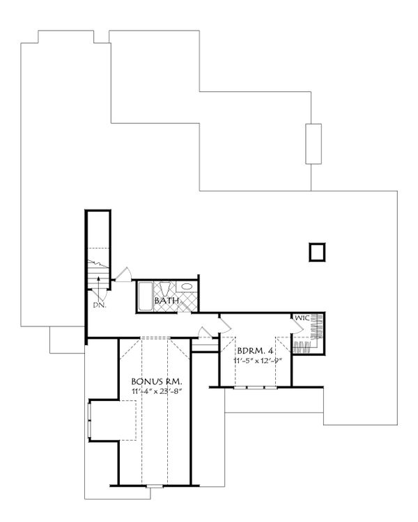 Dream House Plan - Optional Bonus Level