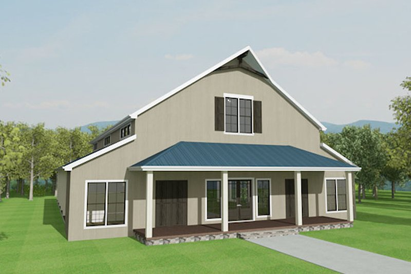 Country Exterior - Front Elevation Plan #17-2599