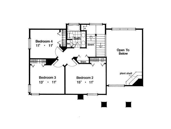 European Floor Plan - Upper Floor Plan Plan #417-241