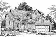 Traditional Style House Plan - 3 Beds 2.5 Baths 1786 Sq/Ft Plan #70-200 Exterior - Front Elevation