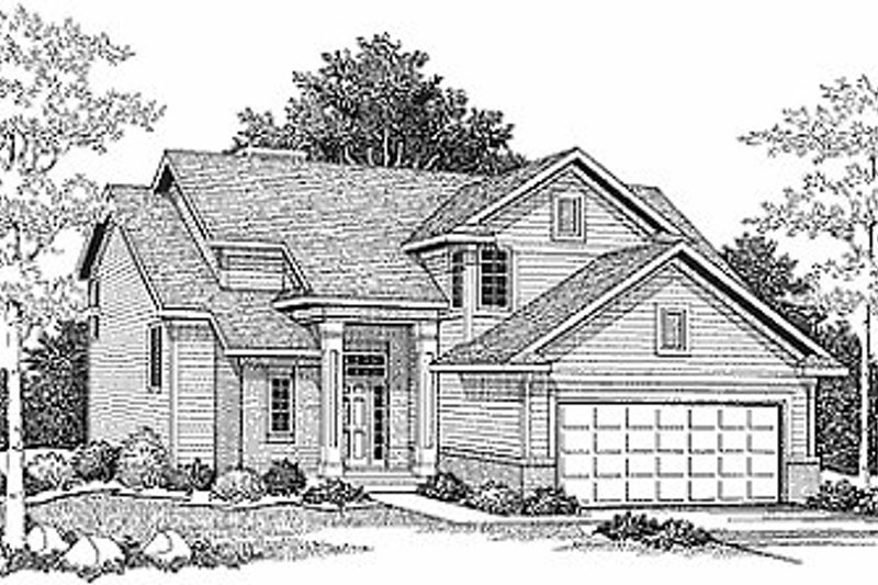Traditional Exterior - Front Elevation Plan #70-200