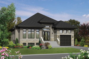 Contemporary Exterior - Front Elevation Plan #25-4315