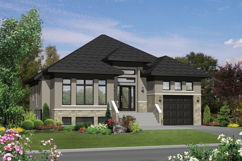 Contemporary Style House Plan - 2 Beds 1 Baths 1406 Sq/Ft Plan #25-4315 Exterior - Front Elevation