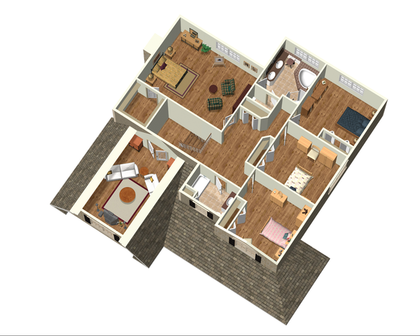 Country Floor Plan - Upper Floor Plan Plan #25-4684