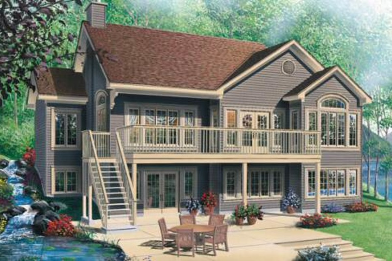 Traditional Exterior - Front Elevation Plan #23-2068 - Houseplans.com