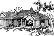 Traditional Style House Plan - 3 Beds 2 Baths 1798 Sq/Ft Plan #60-139 Exterior - Front Elevation