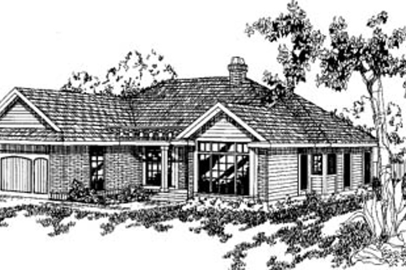 Traditional Exterior - Front Elevation Plan #60-139 - Houseplans.com