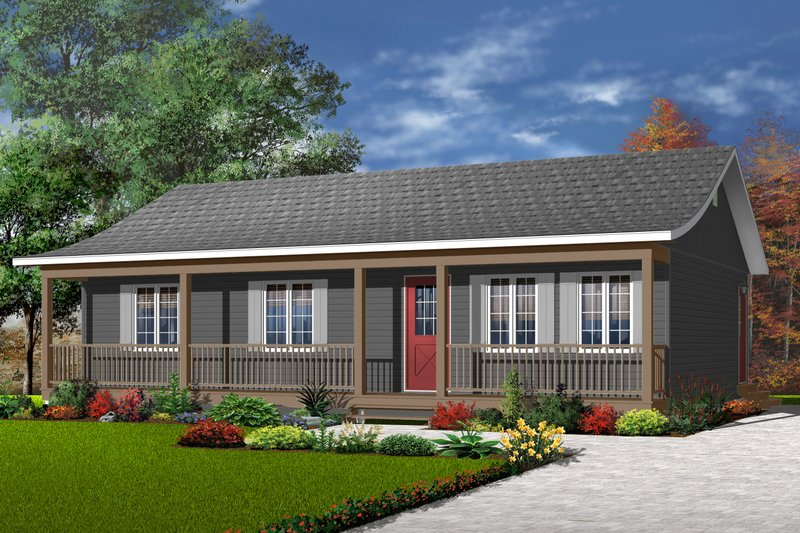 Ranch Exterior - Front Elevation Plan #23-857 - Houseplans.com