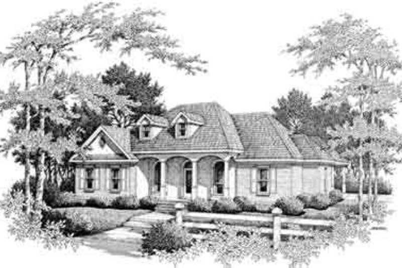 Colonial Exterior - Front Elevation Plan #14-227