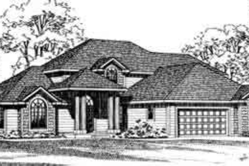 Traditional Exterior - Front Elevation Plan #72-458 - Houseplans.com
