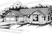Ranch Style House Plan - 3 Beds 2 Baths 1844 Sq/Ft Plan #124-130 Exterior - Front Elevation