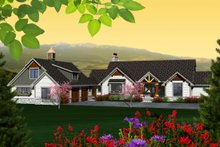 Dream House Plan - Ranch Exterior - Front Elevation Plan #70-1137