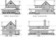Farmhouse Style House Plan - 3 Beds 2.5 Baths 1568 Sq/Ft Plan #47-422 Exterior - Rear Elevation