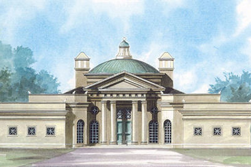 Classical Exterior - Front Elevation Plan #119-259